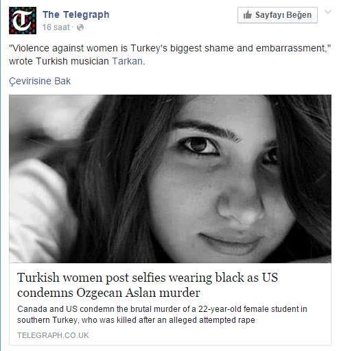 Tarkan'ın mesajı İngiliz gazetesinde