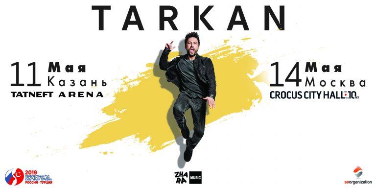 """Megastar Tarkan """"10"""" konserleri ile Rusya'da!"""